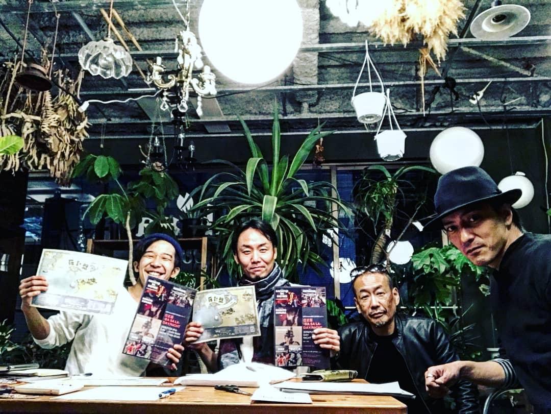 神戸元町にある美容室にて11/23伐娑羅 -Ba Sa La- × 劇団Compassイベンの打ち合わせ